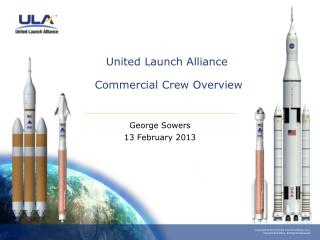 United Launch Alliance  Commercial Crew Overview