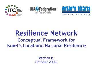 Resilience Network Conceptual Framework for Israel's Local and National Resilience