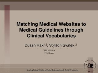 Matching Medical Websites to Medical Guidelines through Clinical Vocabularies