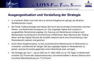 Ausgangssituation und Vorstellung der Strategie