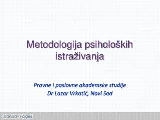 Metodologija psiholo š kih istra ž ivanja