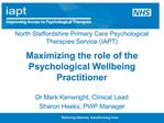 North Staffordshire Primary Care Psychological Therapies Service IAPT