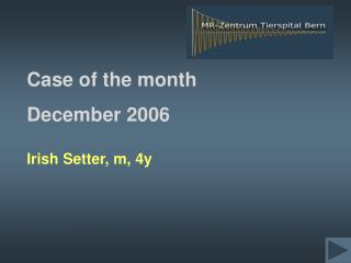 Case of the month  December 2006