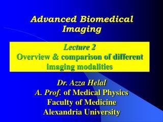 Advanced Biomedical Imaging