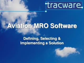 Aviation MRO Software