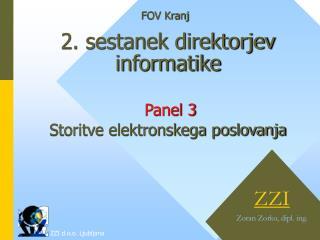 2. sestanek direktorjev informatike