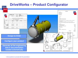 DriveWorks – Product Configurator