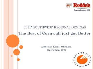 KTP Southwest Regional Seminar