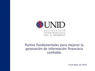 Puntos fundamentales para mejorar la generación de información financiera confiable
