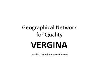 Geographical Network  for Quality