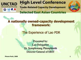 A nationally owned-capacity development framework: The Experience of Lao PDR