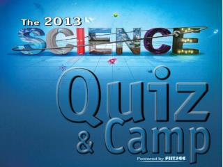 A special website is launched for this quiz !! thesciencequiz