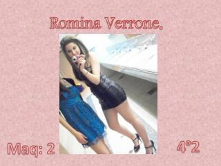 Romina Verrone .
