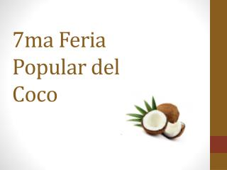 7ma Feria Popular del Coco