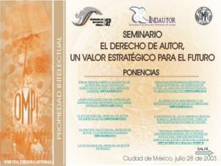 LA GESTIÓN COLECTIVA DEL DERECHO DE REPRODUCCIÓN REPROGRÁFICA DE OBRAS IMPRESAS OMPI/DA/MEX/03/13