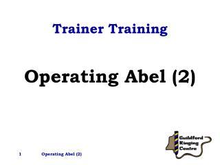 Trainer Training