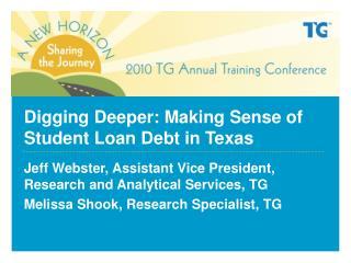 Digging Deeper: Making Sense of Student Loan Debt in Texas