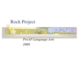 Rock Project