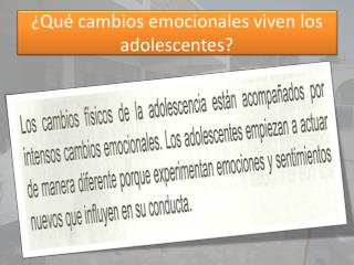 ¿Qué cambios emocionales viven los adolescentes?
