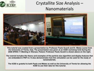 Crystallite Size Analysis   Nanomaterials