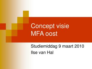 Concept visie MFA oost