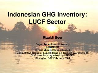 Indonesian GHG Inventory: LUCF Sector