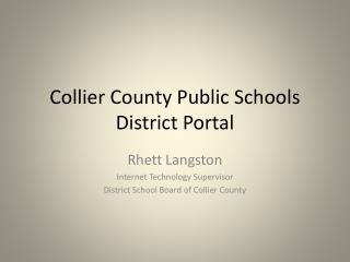 Collier County Public Schools District Portal