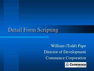 Detail Form Scripting