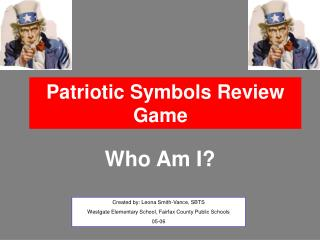 Patriotic Symbols Review Game