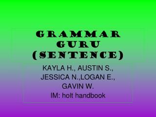 Grammar Guru (sentence)