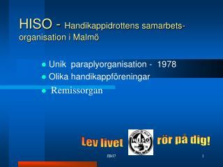 HISO -  Handikappidrottens samarbets-organisation i Malmö