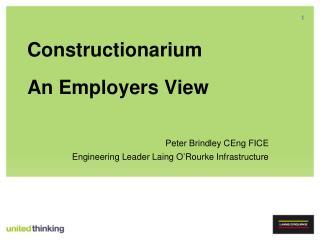 Constructionarium An Employers View