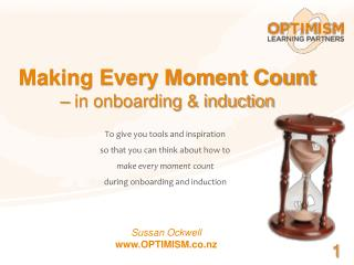 Making Every Moment Count  � in onboarding & induction