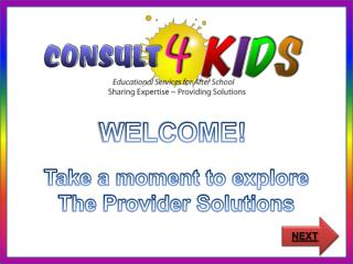 WELCOME!  Take a moment to explore The Provider Solutions