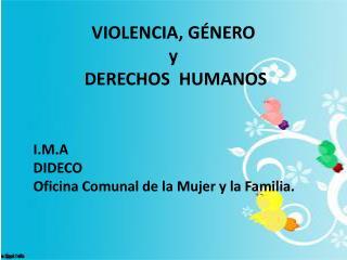 VIOLENCIA, GÉNERO y   DERECHOS  HUMANOS