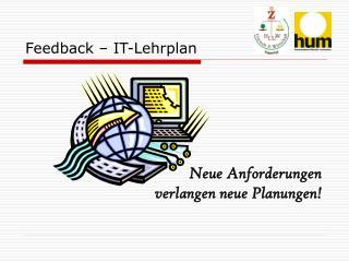 Feedback � IT-Lehrplan