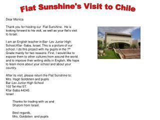 Flat Sunshine's Visit to Chile