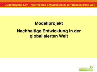 Jugendszene-Lev – Nachhaltige Entwicklung in der globalisierten Welt