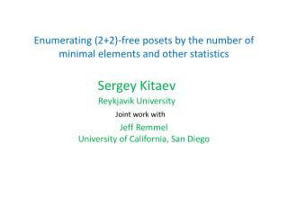 Enumerating (2+2)-free posets by the number of minimal elements and other statistics
