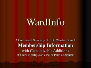 WardInfo