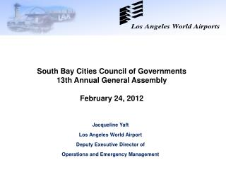 Jacqueline Yaft Los Angeles World Airport Deputy Executive Director of