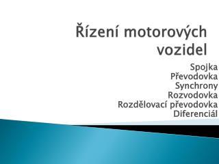 Řízení motorových vozidel