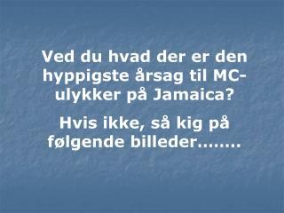 Ved du hvad der er den hyppigste årsag til MC-ulykker på Jamaica?