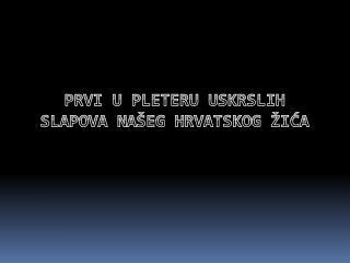 Prvi u pleteru uskrslih slapova našeg hrvatskog žića