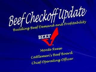 Beef Checkoff Update