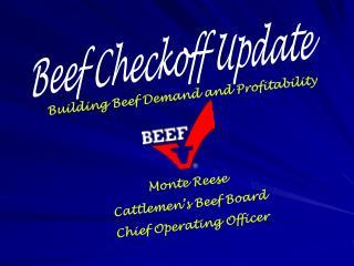 Beef Checkoff Update
