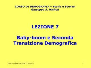 Demos - Storia e Scenari - Lezione 7