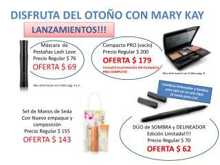 DISFRUTA DEL OTOÑO CON MARY KAY