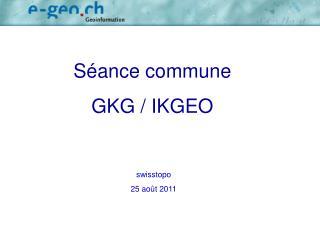Séance commune  GKG / IKGEO