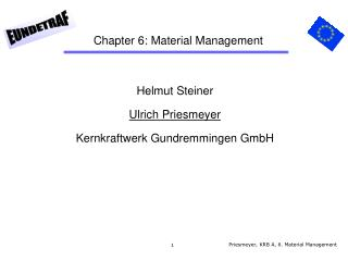 Chapter 6: Material Management